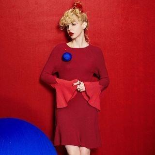 ELF SACK - Long-Sleeve Ruffled Dress
