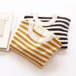 Bonbon - Striped Knit Pullover