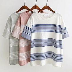 Angel Love - Stripe Short-Sleeve T-Shirt