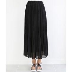 DANI LOVE - Pleated Chiffon Maxi Skirt
