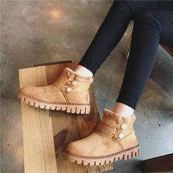 Hipsole - Buttoned Ankle Snow Boots