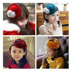 Aurabe - 儿童毛呢小礼帽发夹