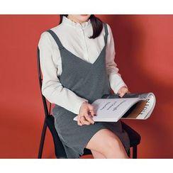 HOTPING - Tie-Shoulder Patterned Dress