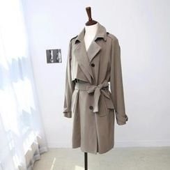 L.MAZEL - Flap Front Trench Coat