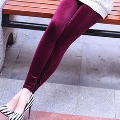 Raisin - Velvet Leggings