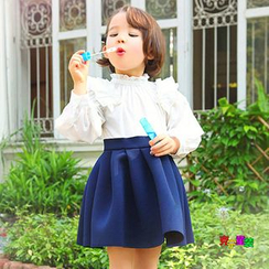 Cuckoo - Kids Embellished Long-Sleeve Tulle Dress