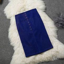 Aurora - Denim Midi Skirt