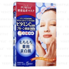Utena 佑天蘭 - Puresa 保濕柔肌面膜 (維他命 C + 西梅酵素)