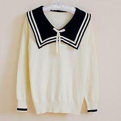 Skool - Sailor Collar Sweater