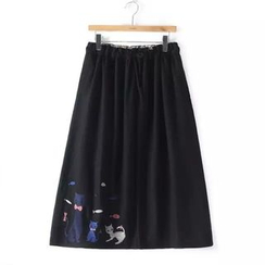 Aigan - Embroidered Maxi Skirt