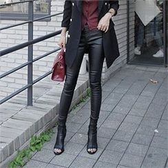 LIPHOP - Coating Skinny Pants
