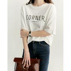 UPTOWNHOLIC - 'CORNER' Print T-Shirt