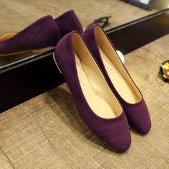 Zandy Shoes - Faux-Suede Flats