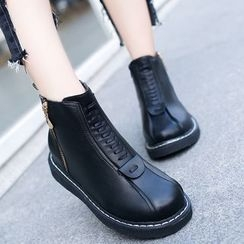 One100 - Platform Zip-Side Ankle Boots