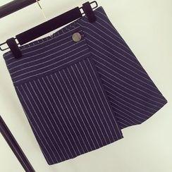 Honeydew - Pinstriped A-Line Skirt