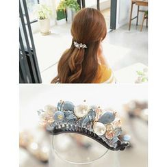 soo n soo - Beaded Faux-Pearl Hair Pin