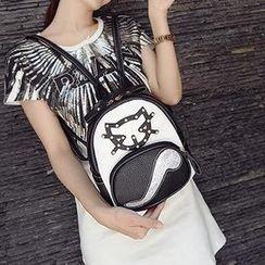 Secret Garden - Cat Applique Backpack