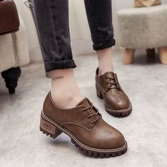 QQ Trend - Block Heel Oxfords