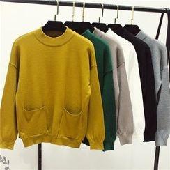 Honey House - Plain Pocketed Sweater