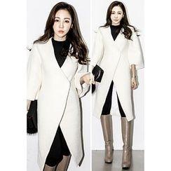 INSTYLEFIT - 3/4-Sleeve Wool Blend Coat