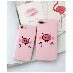 Cartoon Face - Pig Print Mobile Phone Case - Apple iPhone 6 / 6 Plus / 7 / 7 Plus