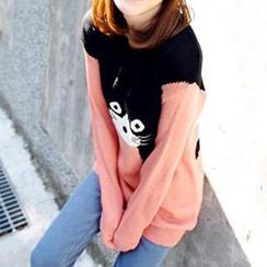 Tokyo Fashion - Cat Print Sweater