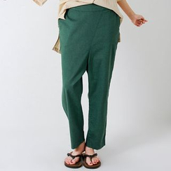 FASHION DIVA - Linen Blend Harem Pants