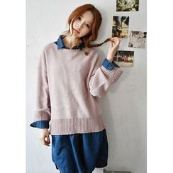 GOROKE - Drop-Shoulder Wool Blend Sweater