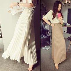 PINZIKO - Pleated Long Skirt