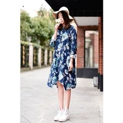 Yammi - Floral Print Shirtdress