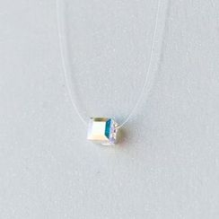 A'ROCH - Faceted Crystal Cube Necklace