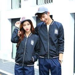 belle epoque - Couple Matching Printed Zip Jacket