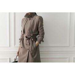 UPTOWNHOLIC - Trench Coat with Belt