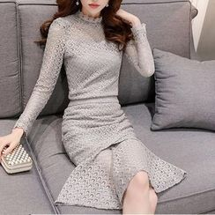 SEYLOS - Long-Sleeve Lace Dress