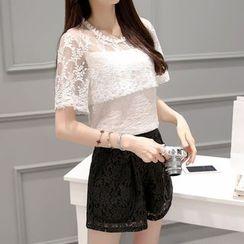 NINETTE - Set: Lace Top + Shorts