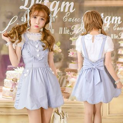 Candy Rain - Short-Sleeve Frilled Dress