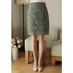 MyFiona - Lace Pencil Skirt