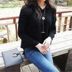 ERANZI - Hooded Knit Top