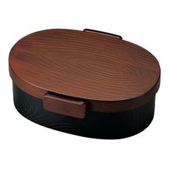 Hakoya - Hakoya Tight Mokume Oval Lunch Box Large (Tochigime)