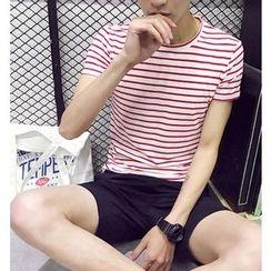 Fisen - Striped Short-Sleeve T-Shirt
