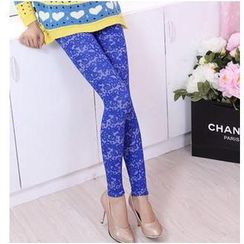 Little Flower - Jacquard Tapered Tights