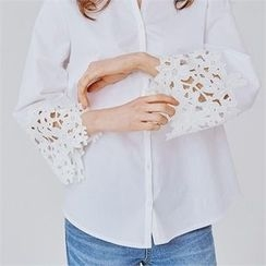 MAGJAY - Lace-Trim Blouse