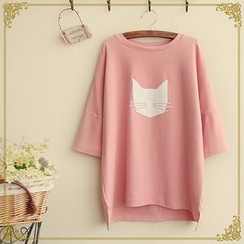 Fairyland - Cat Print T-Shirt