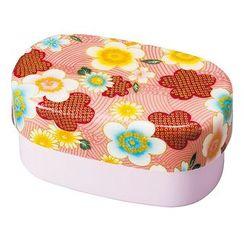 Hakoya - Hakoya Nunobari Oval Lunch Box Large Kaga Sakura (Pink)