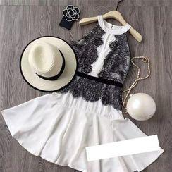 AIGIL - Sleeveless Lace Panel Dress