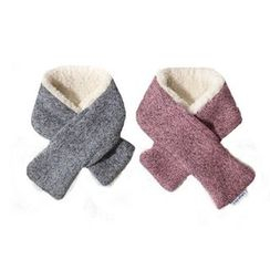 LIFE STORY - Pet Fleece Knit Keyhole Scarf