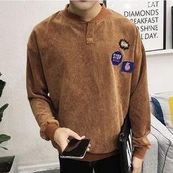 Bay Go Mall - Patch Embroidered Pullover