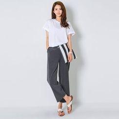 FASHION DIVA - Flat-Front Wide-Leg Pants