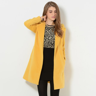 YesStyle Z - Buttoned-Collar Coat
