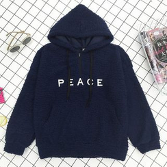 About a Girl - Embroidered Letter Hoodie